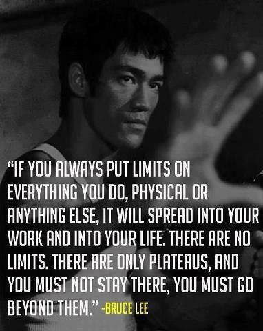 Striving for excellence, Bruce Lee